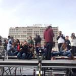 La tribuna de Prensa en Colón