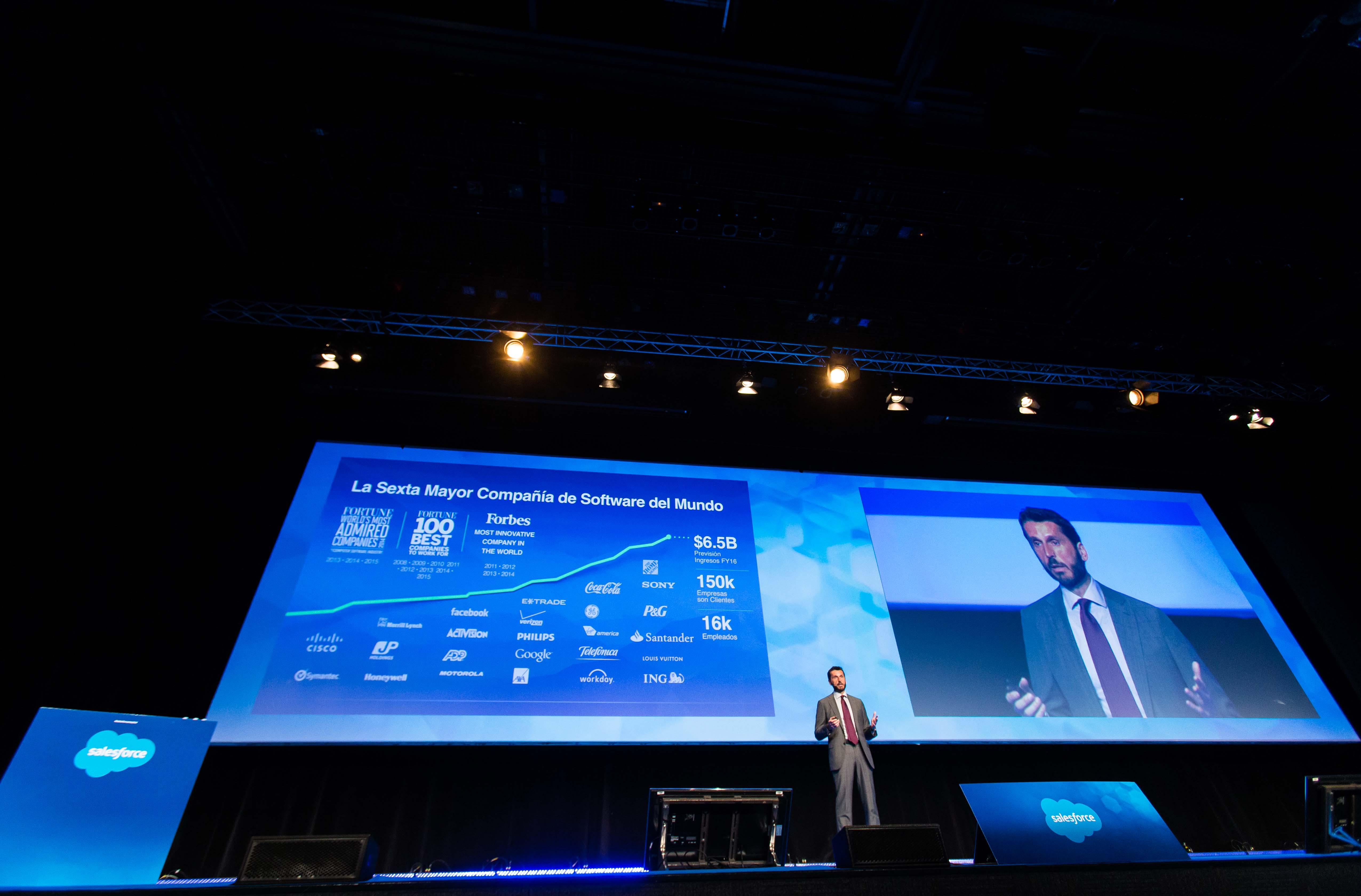 El Presidente de Salesforce España durante la presentación del producto.